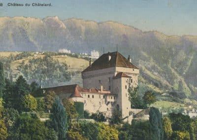 Château du Châtelard, © Phototypie Co., Neuchâtel, carte datée de 1912