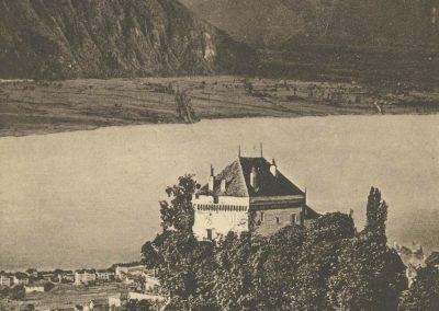 Château du Châtelard et la Dent-du-Midi. © Édition phot. franco-suisse, Berne
