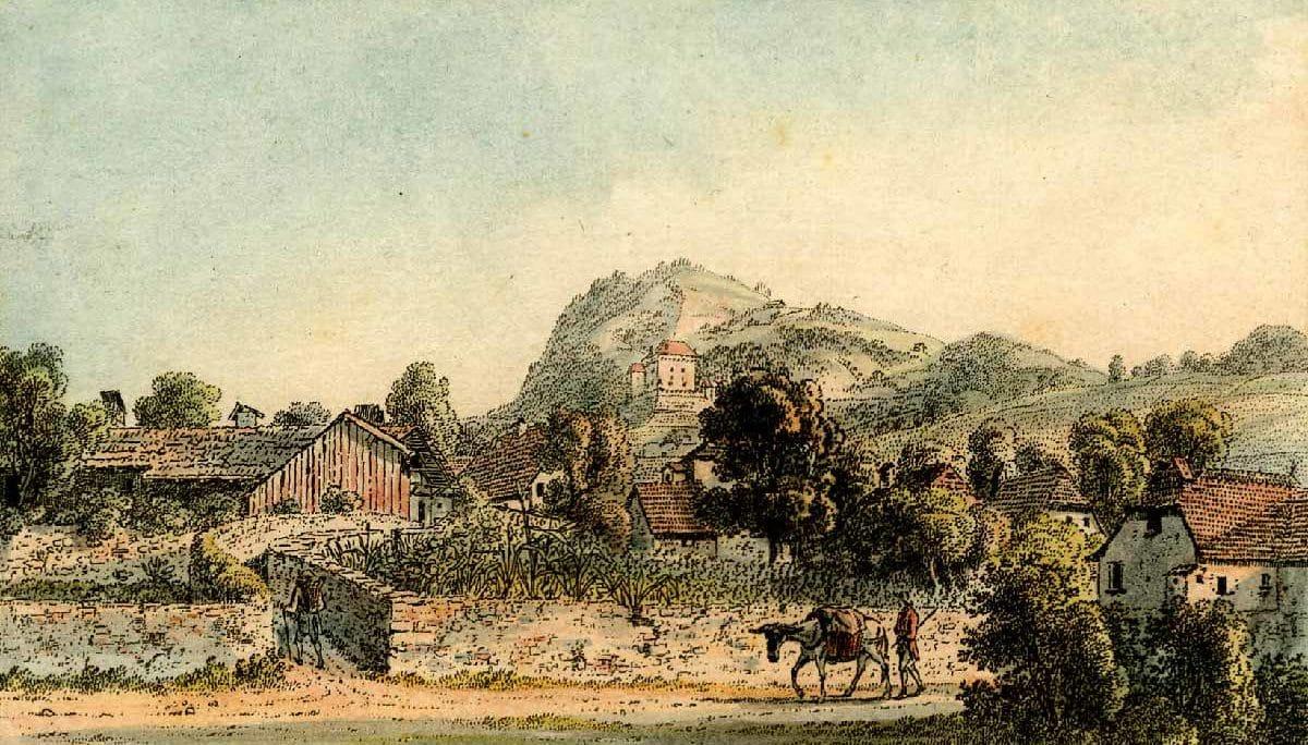 """Clarens 1786 - 1818. Imprimé par Heinrich Rieter. Collection """"The British Museum"""""""