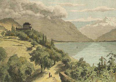 Château du Châtelard, Haut-Lac et Dent-du-Midi