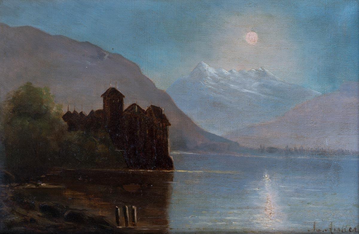 Albert Anker (1831 - 1910), huile sur toile 32 x 21cm. Collection privée