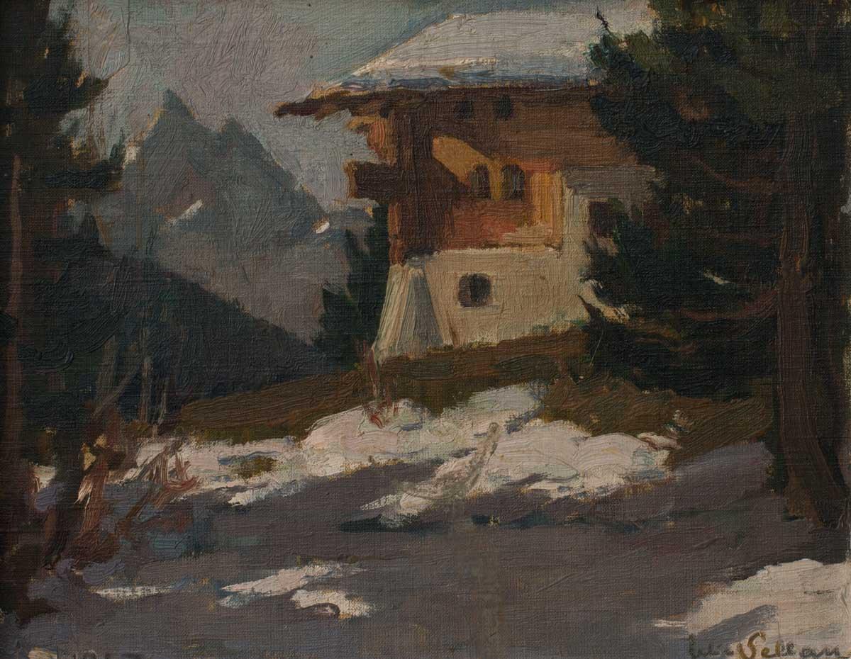 Felice Vellan (1889 - 1976), huile sur toile 21 x 27cm, 1947. Collection privée