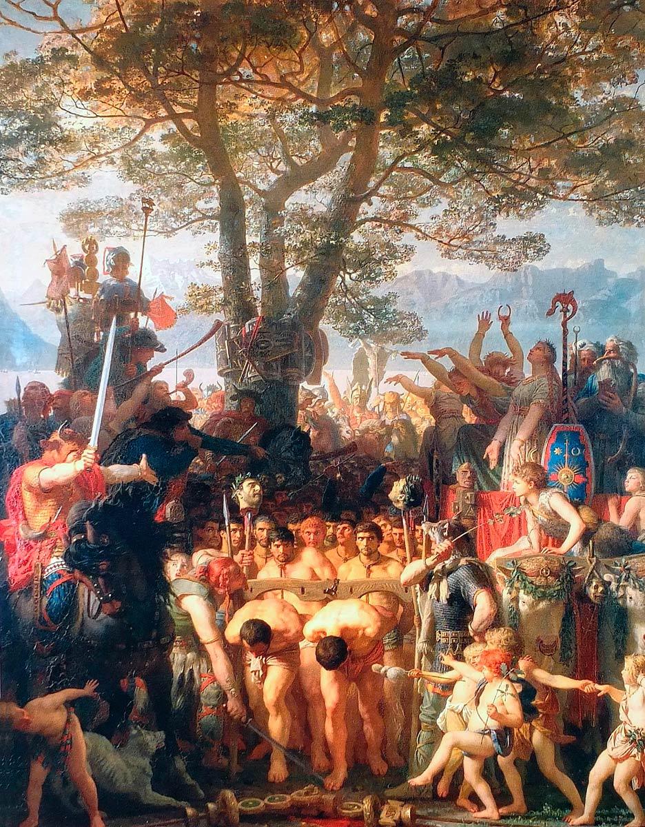 """Charles Gleyre (1806-1874), """"Les Romains passant sous le joug"""", huile sur toile 240 x 192cm, 1858. © Musée cantonal des Beaux-Arts, Lausanne"""