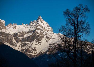 La Cime-de-l'Est depuis l'alpage de Plex au-dessus de Collonges