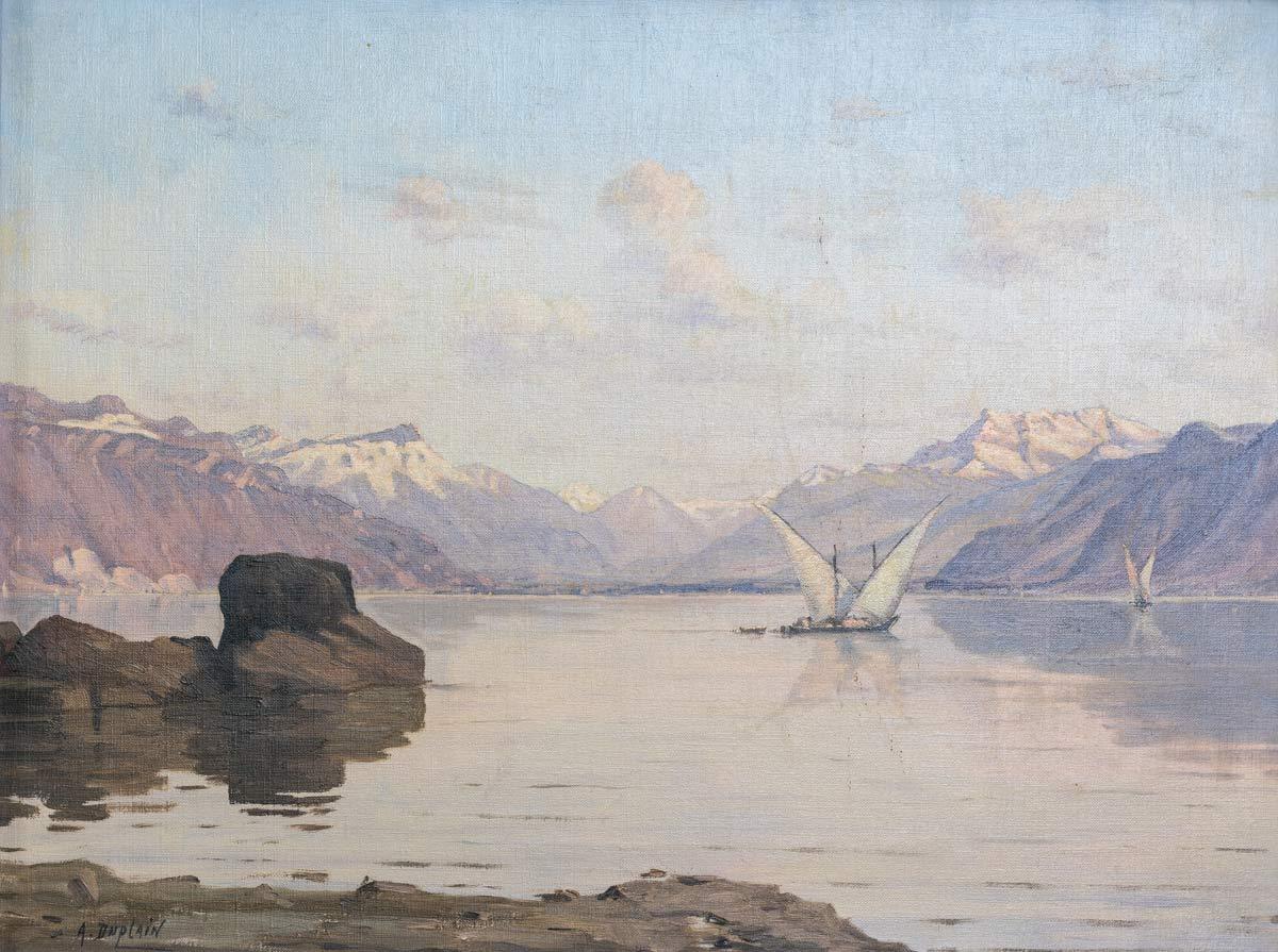 Albert Duplain (1890-1978), huile sur toile 34 x 45,3cm, non datée. Collection privée