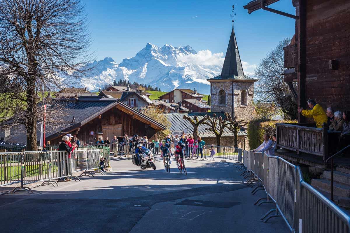 Quatrième étape du Tour de Romandie entre Domdidier et Leysin. © Fabrice Ducrest