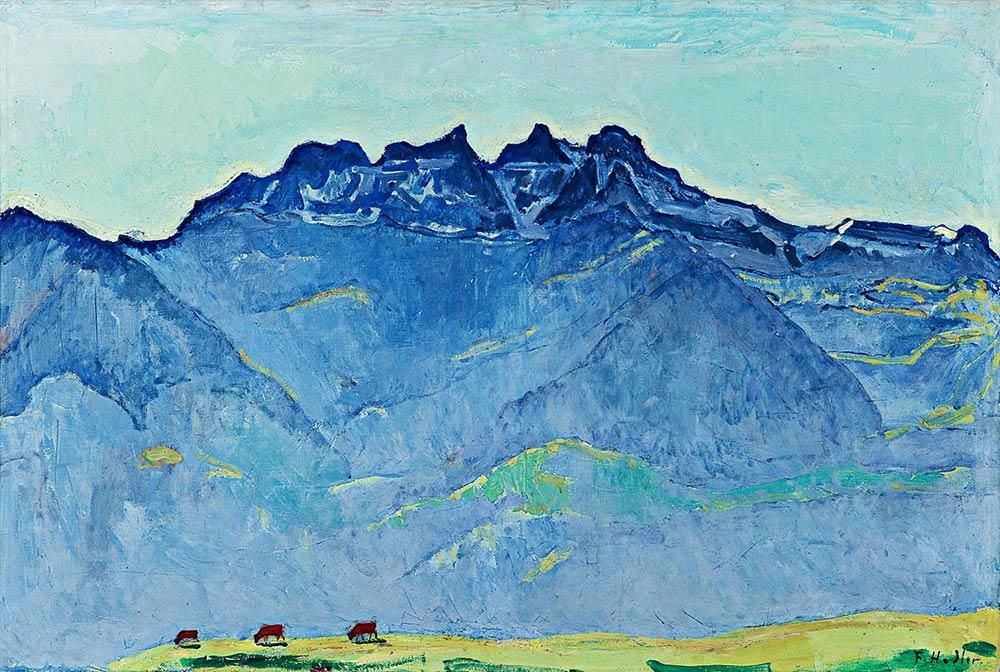 """""""Les Dents du Midi depuis Champéry"""", 1916. Collection privée"""