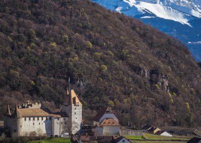 Le château d'Aigle et les Dents-du-Midi