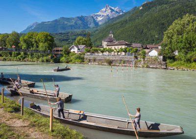 Swiss Rhône Contest à Bex. Organisé par les pontonniers de Bex