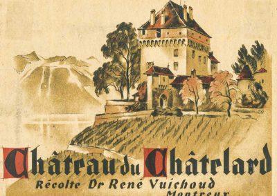 Etiquette, Château du Châtelard, récolte Dr René Vuichoud, Montreux