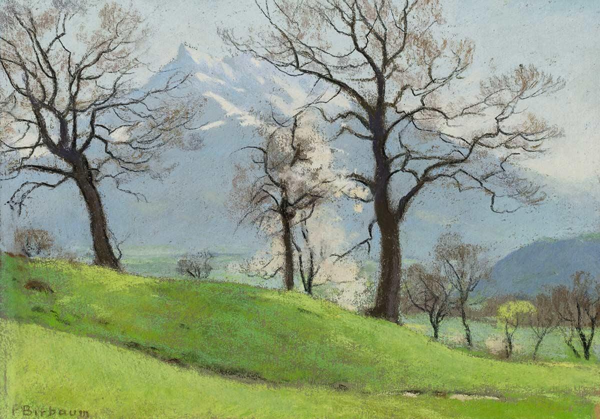 François Birbaum (1872-1947), aquarelle sur carton 34 x 24cm, non datée. Collection privée