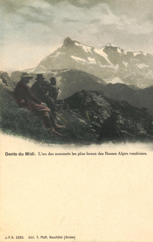 Dents du Midi. L'un des sommets les plus beaux des Basses Alpes vaudoises © Edit. T. Pfaff, Neuchâtel (Suisse)