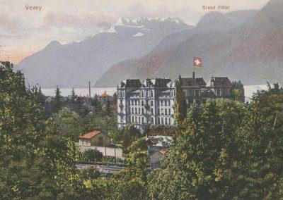 Grand Hôtel de Vevey. © Artist. Atelier N. Guggenheim & Co., Editeurs, Zürich