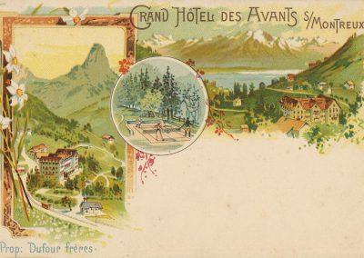 Grand Hôtel des Avants sur Montreux. © Art. Institut Orell Füssli, Zürich
