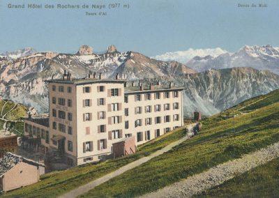 Grand Hôtel des Rochers de Naye (1977m). © Phototypie Co., Neuchâtel