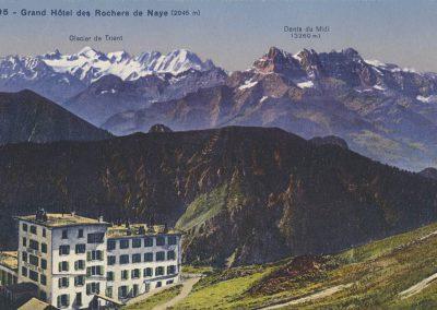 Grand Hôtel des Rochers de Naye (2045m). © Société Graphique Neuchâtel