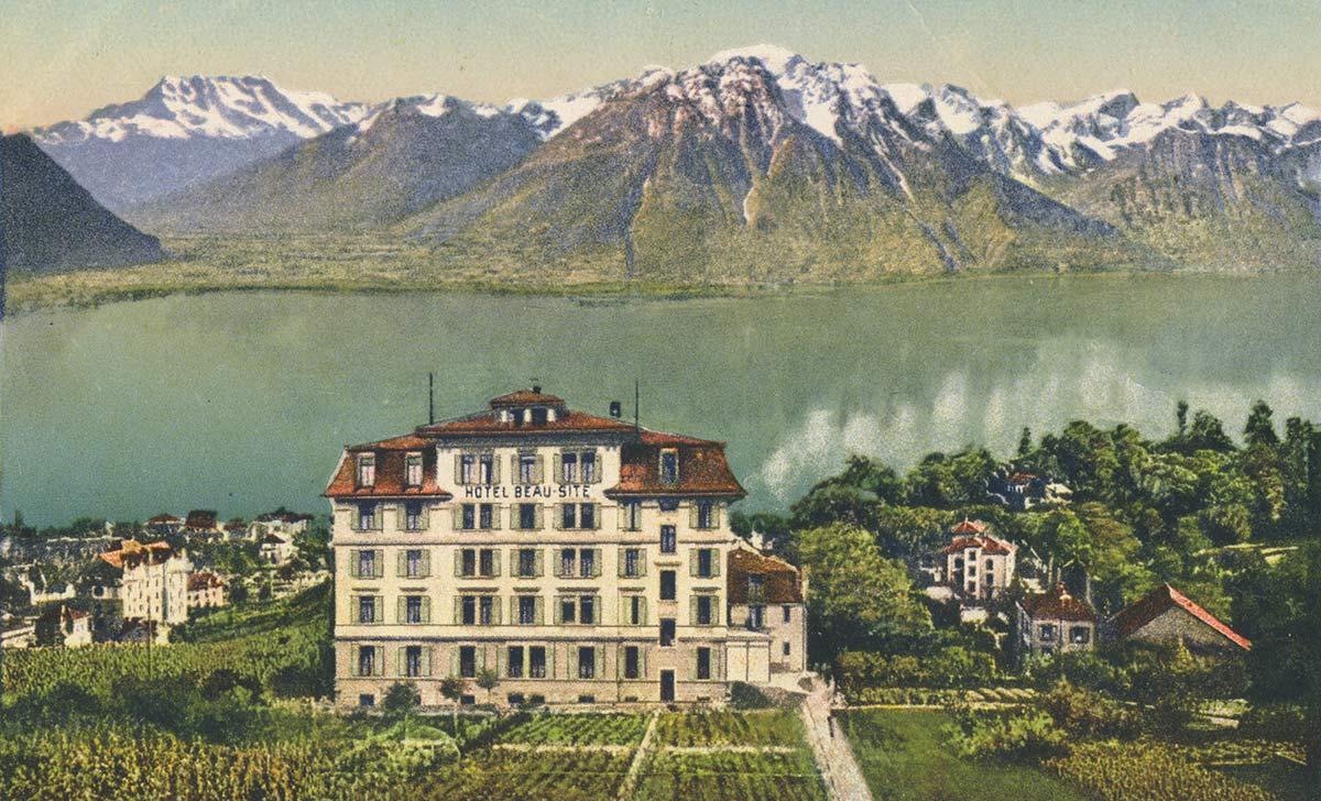 Hôtel Beau-Site, Baugy, Clarens-Montreux. © Paul Bender, Zollikon - Zürich