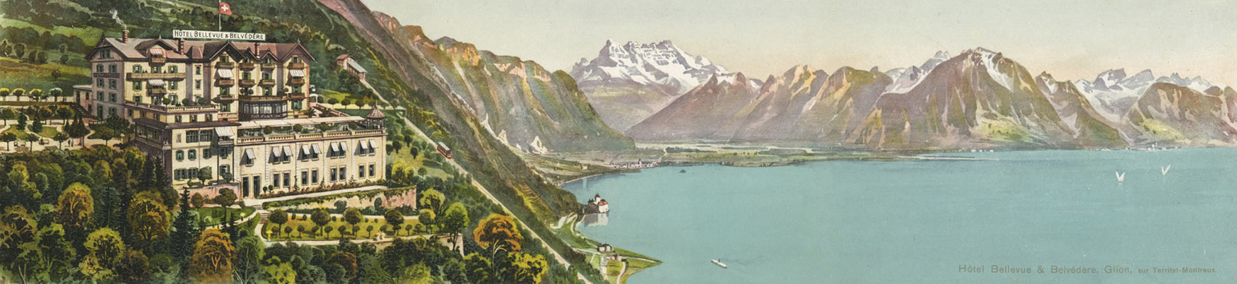 Hôtel Bellevue et Belvédère, Glion, sur Territet Montreux
