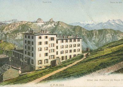 Hôtel des Rochers de Naye (1977m), © C.P.N