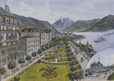 Hôtel du Parc et du Lac, Montreux. © Artist. Atelier H. Guggenheim & Co., Editeurs, Zürich
