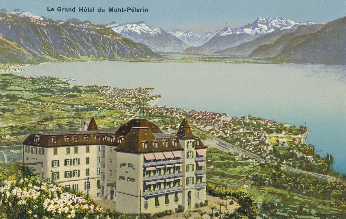 Le Grand Hôtel du Mont-Pélerin. © Editeur Ph. Wolf, Mont-Pélerin, carte datée de 1932