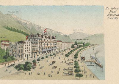 Le Splendid Hôtel - Montreux (Suisse), carte datée de 1906