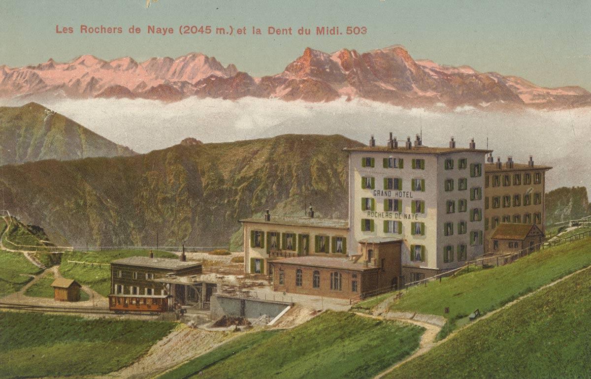 Les Rochers de Naye (2045m.) et la Dent du Midi. © Editions Louis Burgy & Co., Lausanne