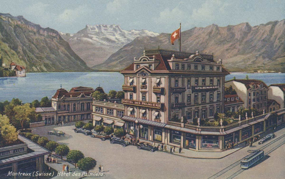 Montreux (Suisse). Hôtel des Palmiers. © Edition Guggenheim & Co., Zürich
