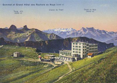 Sommet et Grand Hôtel des Rochers de Naye (2045m). © Société Graphique Neuchâtel