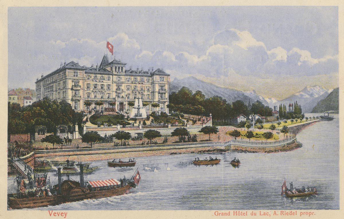 Vevey. Grand Hôtel du Lac, A. Riedel propr.