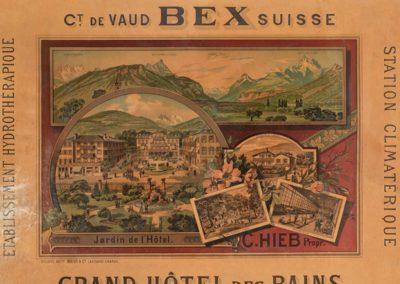 Bains d'eaux salées & d'eaux mères, canton de Vaud, Bex, Suisse. Grand Hôtel des Bains