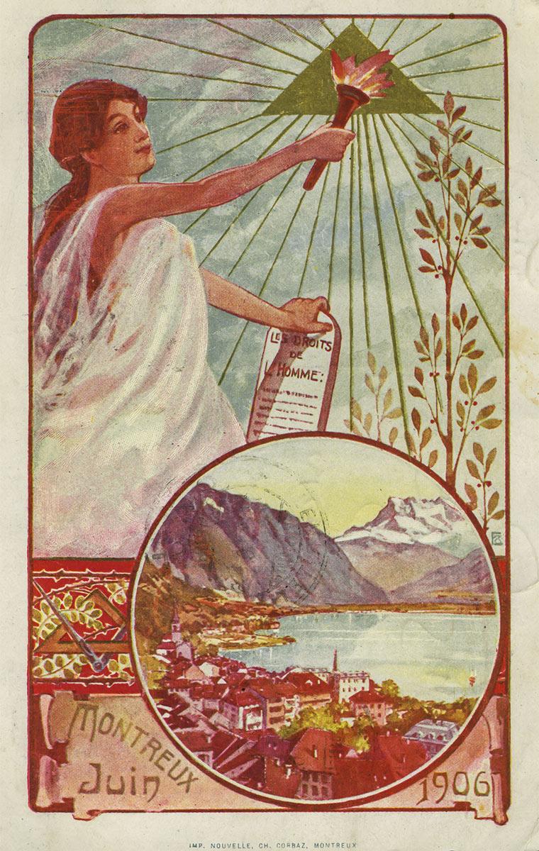 Montreux, juin 1906, les droits de l'homme