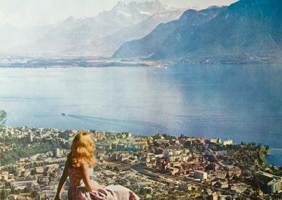 Vevey, Suisse, Switzerland, Schweiz, 1964. © Tous droits réservés, auteur anonyme, impression offset Klausfelder S.A., Vevey, 103 x 64cm. Réf. 5137, Musée historique de Vevey