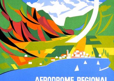 Aérodrome régional, Montreux, 1950