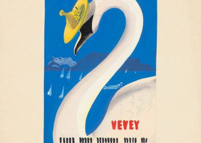 Vevey, 1946. Martin Peikert (1901-1975), gouache et crayon 49,8 x 33,2cm. Réf. EC-0472, eMuseum, Zürich