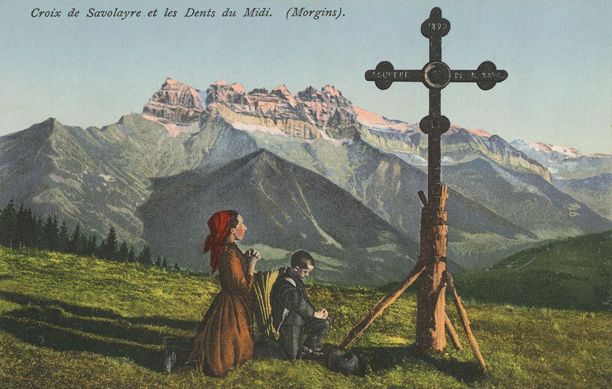 Croix de Savolayre et les Dents du Midi (Morgins). © R. Heyraud, photogr. éditeur, St. Maurice
