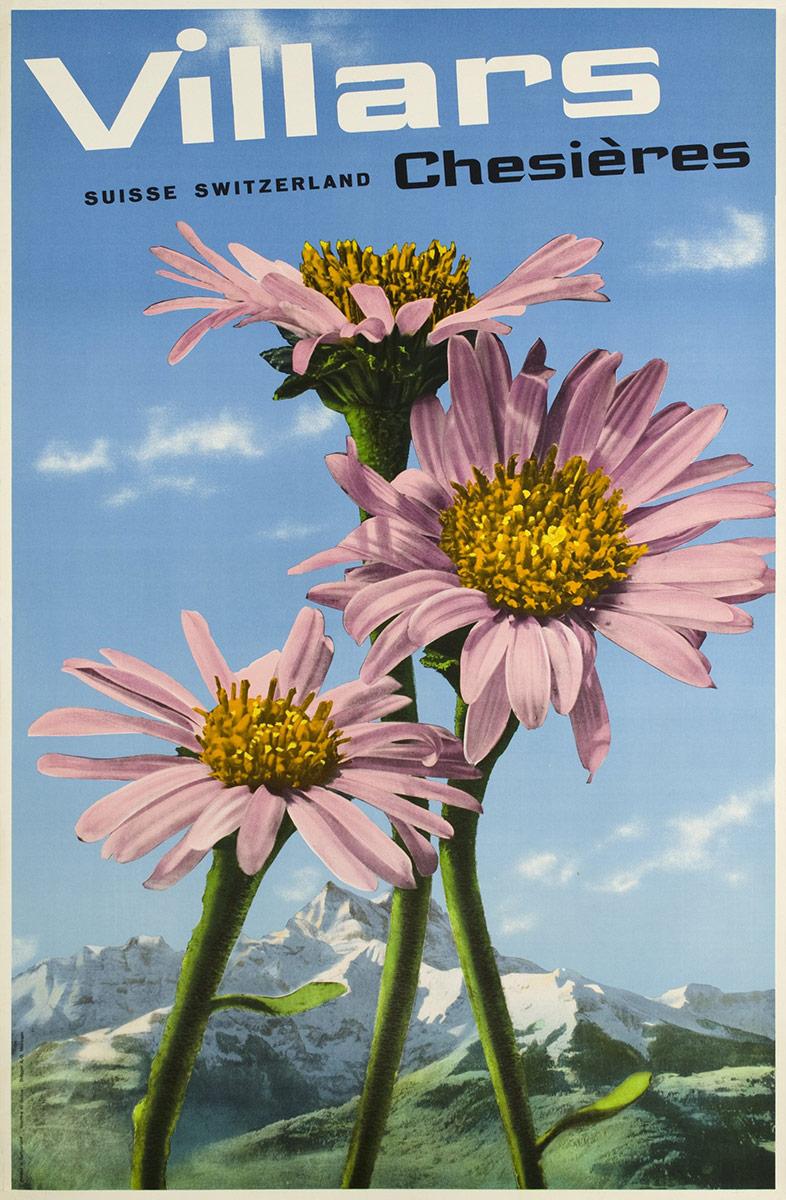 Villars-Chesières, Suisse, Switzerland, 1940. © Tous droits réservés, auteur anonyme, offset, sérigraphie et héliographie A. Brügger, Meiringen. Galerie 1 2 3, Genève, www.galerie123.com