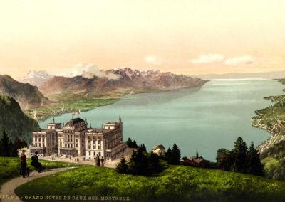 Grand Hôtel de Caux sur Montreux. © Photoglob-Zürich