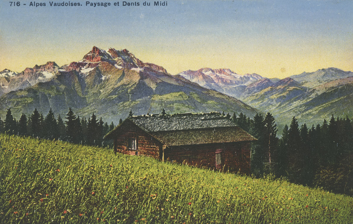 Alpes vaudoises. Paysage et Dents du Midi. © Société Graphique Neuchâtel