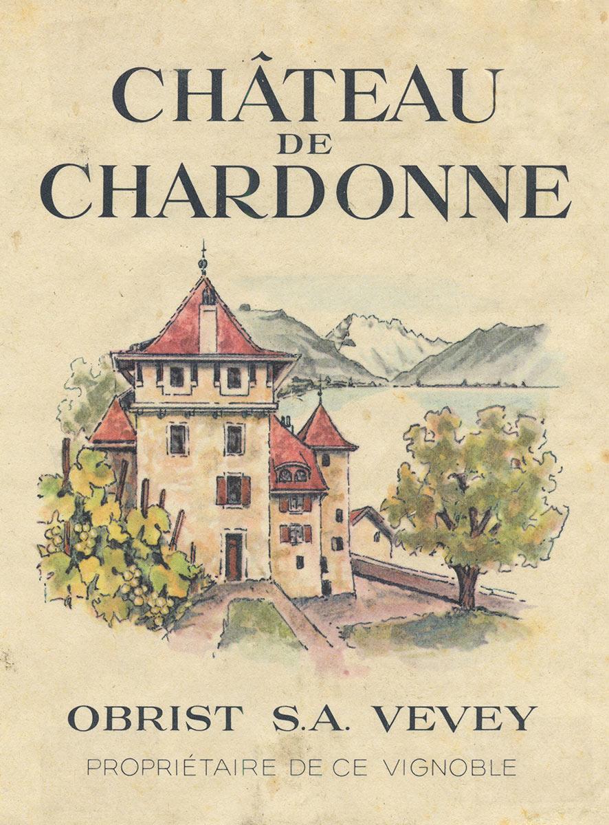 Etiquette de vin. Château de Chardonne, Obrist