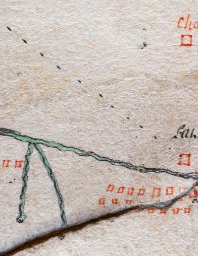 Plan géométrique de la montagne de Salanfe en 1772. © Archives de l'Abbaye de Saint-Maurice