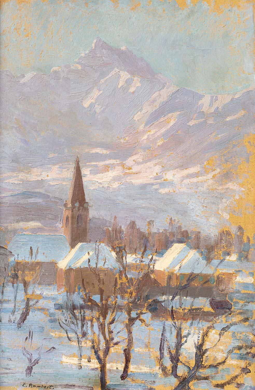 Charles Rambert (1867 - 1932), huile sur toile 45 x 30cm, vers 1930. Galerie de la Tine, Troistorrents