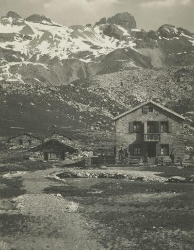 Salanfe. La Cime de l'Est et l'Hôtel de la Cime de l'Est, vers 1928