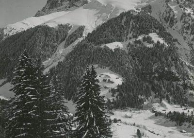 Dents du Midi - Dent Jaune vue de Champéry. © Fonds Boissonnas, Bibliothèque de Genève