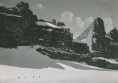 Dents du Midi - Eperon - Cathédrale vues du Plan Névé. © Fonds Boissonnas, Bibliothèque de Genève