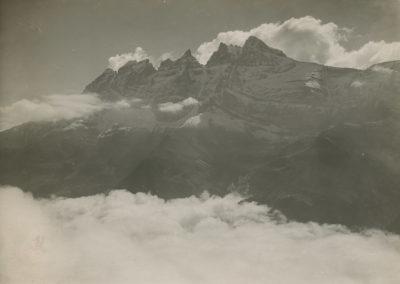 Dents du Midi de l'arête du Culet. © Fonds Boissonnas, Bibliothèque de Genève