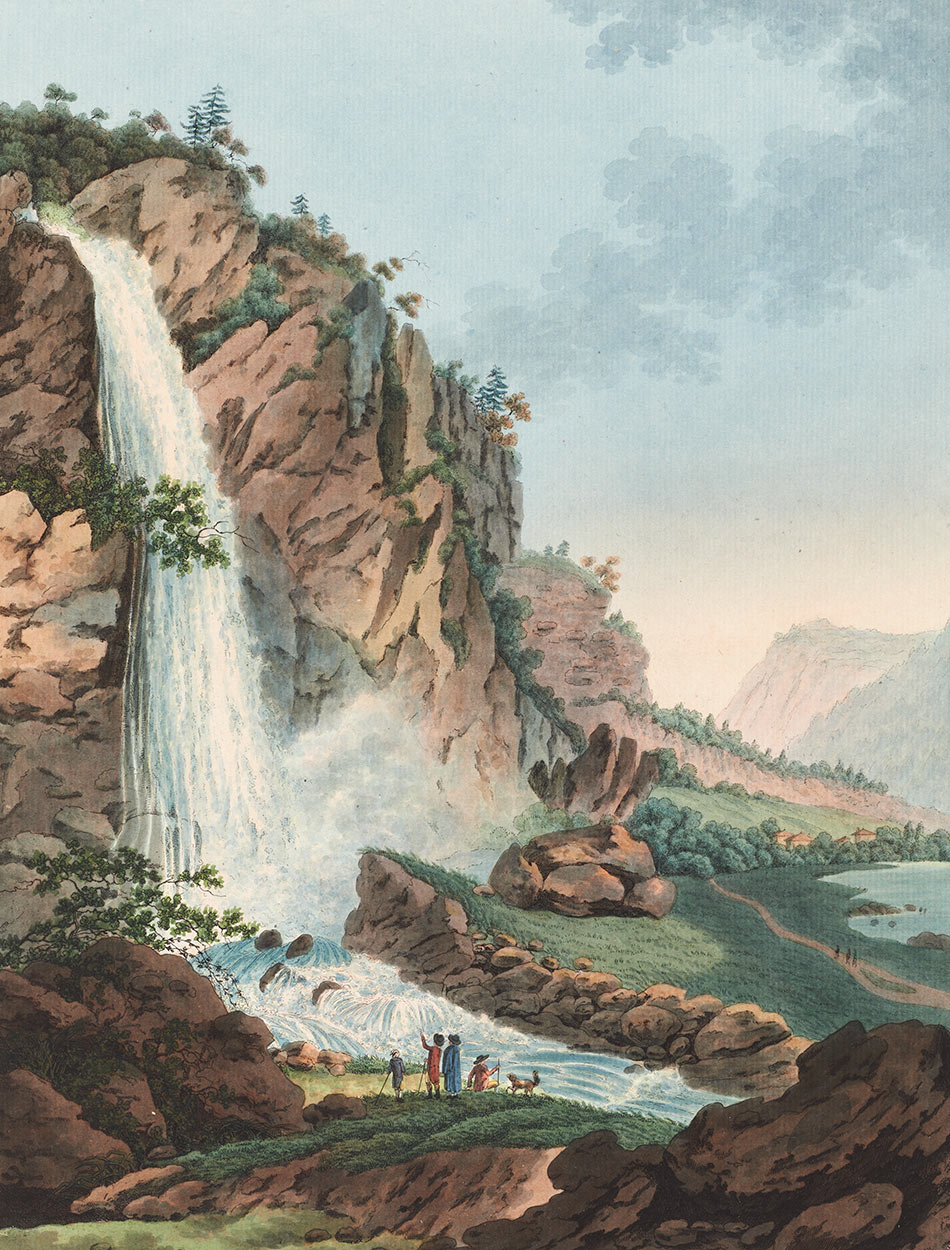 Cascade de Pissevache, 1790. Christian von Mechel (1737-1817). Collection Gugelmann. Source, helveticarchive.ch