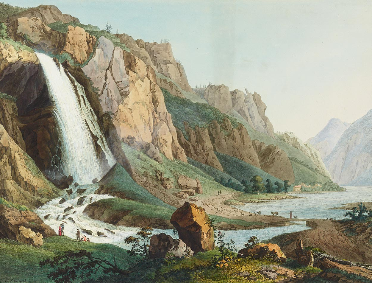 Pissevache, date inconnue. Jean-Antoine Linck 1766-1843). Collection Gugelmann. Source, helveticarchive.ch