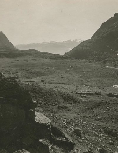 Le plateau de Salanfe et le Salantin vers 1920. © Fonds Boissonnas, Bibliothèque de Genève