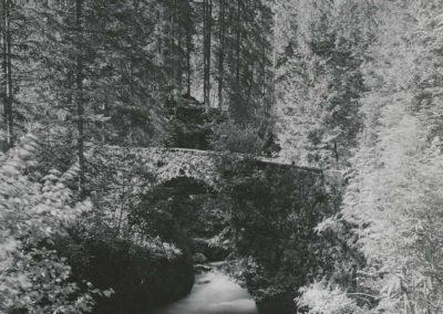 Environs de Champéry - Pont du Moulin, vers 1920. © Fonds Boissonnas, Bibliothèque de Genève